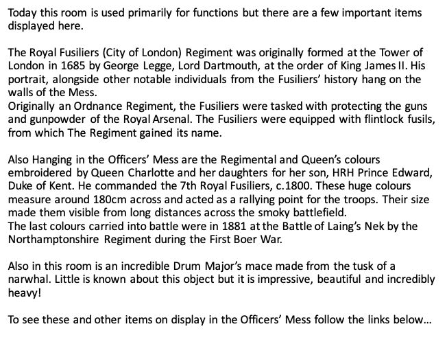 Officers' Mess text
