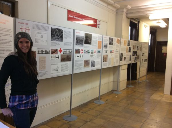 Tower Hamlets Installing exhibition