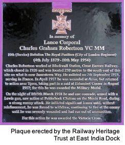 Robertson plaque