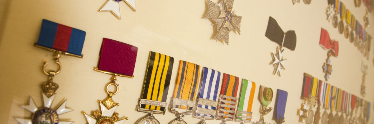 Medals on display at the Fusilier Museum